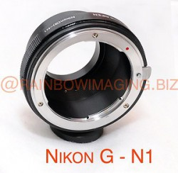 Nikon G AF-S DX Lens to Nikon 1 Mount V1 J1 Camera Adapter